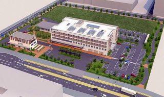 高洲に新タイプの病院 31年度中オープン リハビリ、終末医療担う