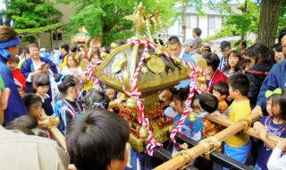 稲荷神社で例祭 夏祭りの〝はしり〟
