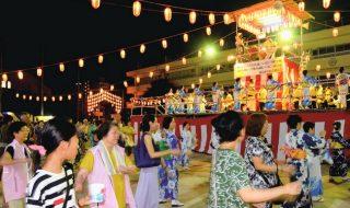 浦安点描:納涼盆踊り、市民で賑わう