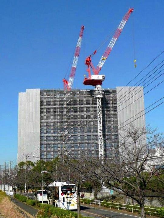 待望の新庁舎が間近な28年1月