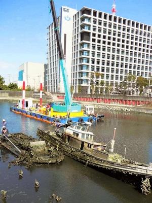沈没船撤去で景観回復
