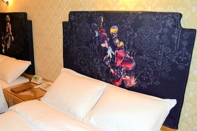 キングダム ハーツ ベッドの装飾