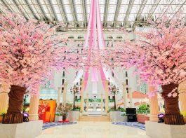 東京ベイ舞浜ホテル クラブリゾート 3階アトリウムロビーを華やかに彩る桜