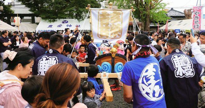 豊受神社 秋祭り 浦安の伝統芸能が披露される