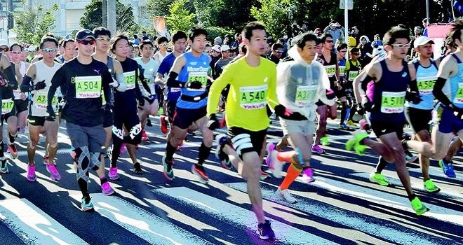 第29回東京ベイ浦安シティマラソン 全国の市民ランナーとゲストランナー7300人が参加