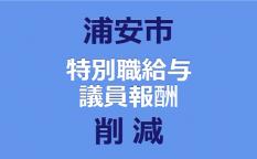浦安市、特別職給与、 議員報酬削減