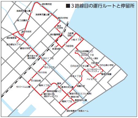 おさんぽバス運行ルート