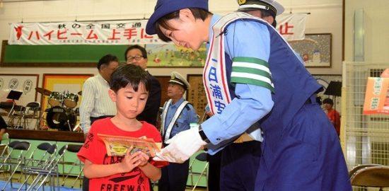 アジア大会女子柔道優勝 角田選手一日署長 秋の交通安全運動