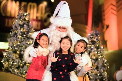 クリスマスイベント ホワイトサンタグリーティング