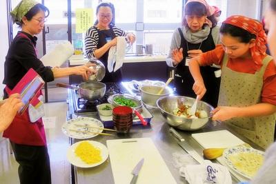 和食体験で文化交流