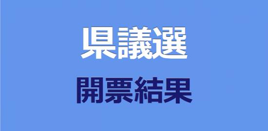 県議選開票結果
