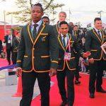 ラグビーW杯日本大会 南アフリカ代表チーム歓迎式典