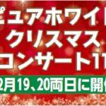 ピュアホワイト クリスマスコンサート11 12月19、20両日に開催