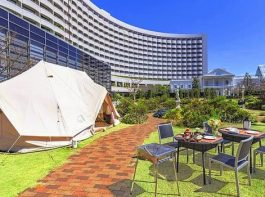ホテルでキャンプ生活を体験 シェラトン・グランデ・トーキョーベイ・ホテル