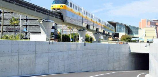 ディズニーリゾートにトンネル道路完成 駐車場から外周道路への退出専用